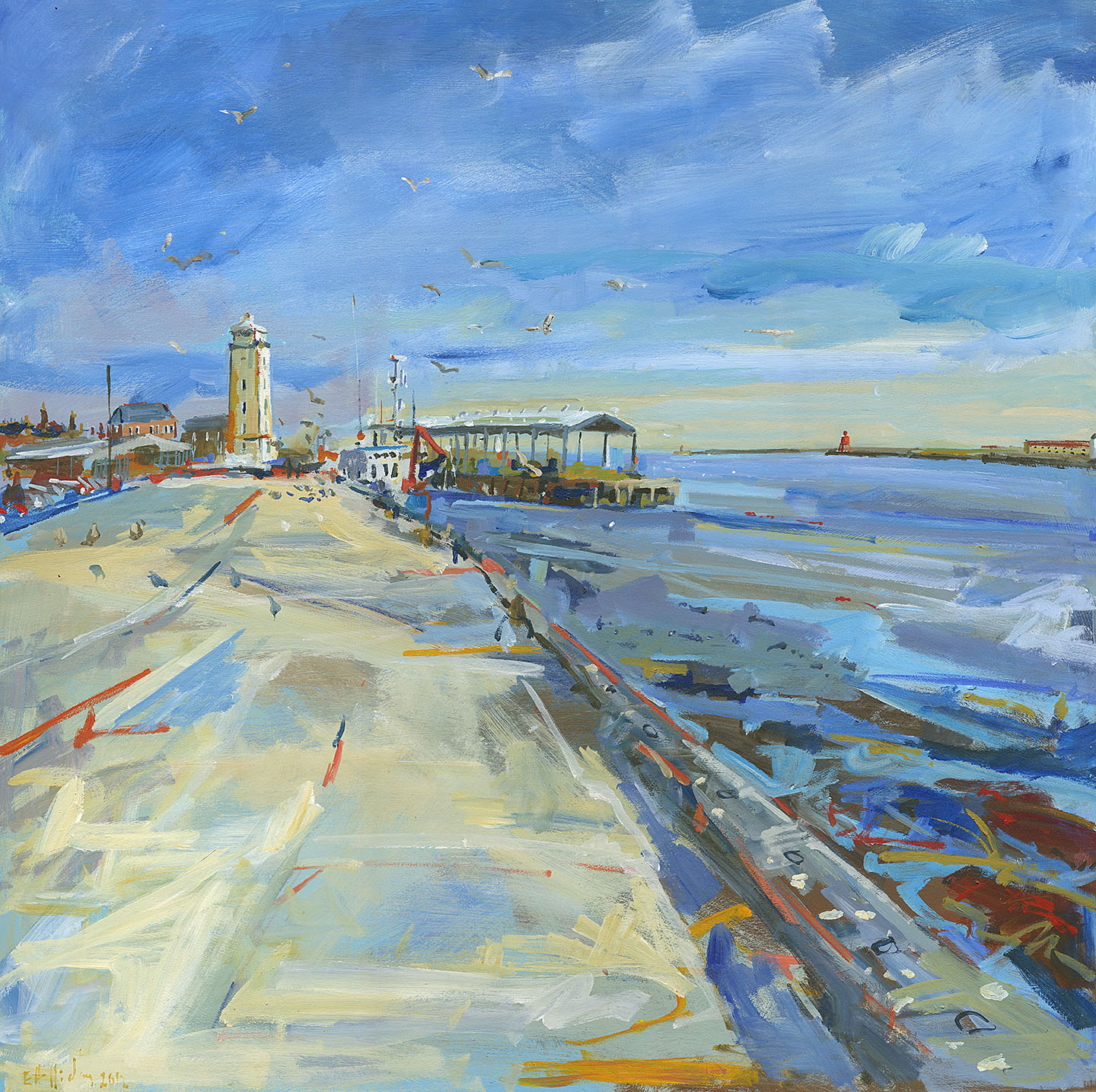 Holliday-North-Shields-Fish-Quay-painting-02