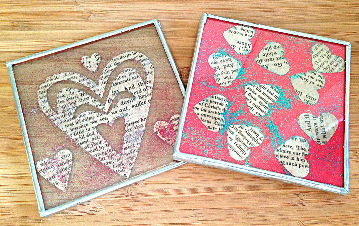 make your own valentines coasters wall hangings 36 lime street