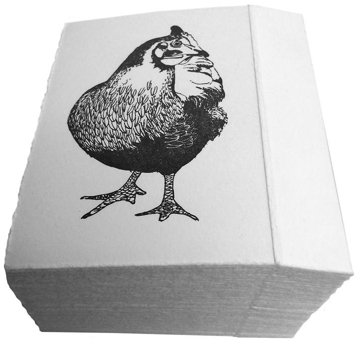Rachel Bollen's new raffle ticket design 'Spring Chicken