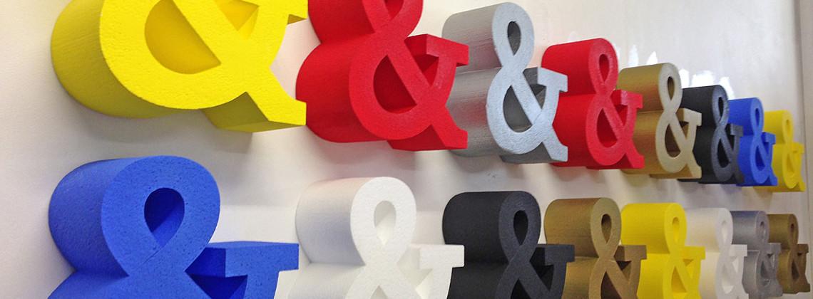 Ampersands - Polystyrene
