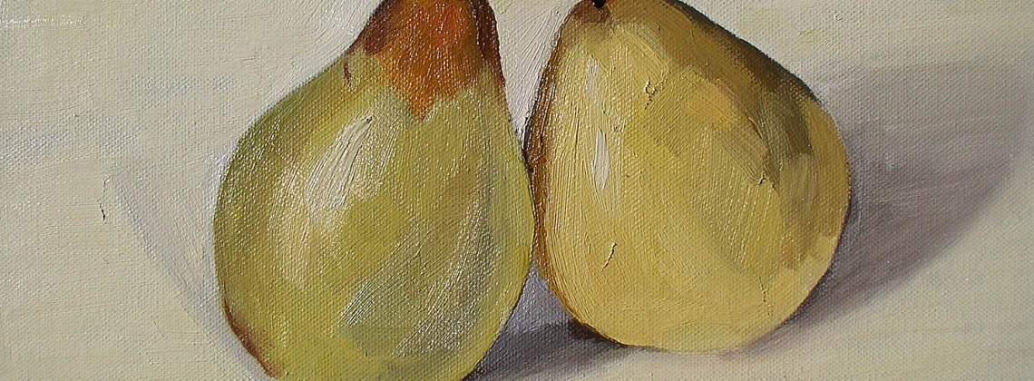 'Two pears' oil on canvas