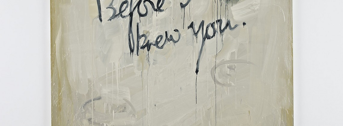 Before I Knew You (2013), oil on linen, 230x180cm